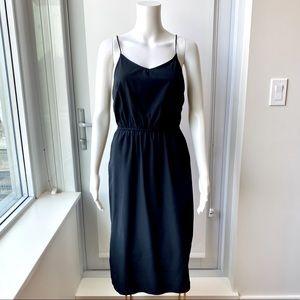 H&M Black MIDI Dress with Pockets